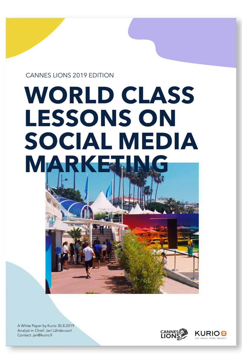 Whitepaper - World-Class Lessons on Social Media Marketing - Cannes Lions 2019